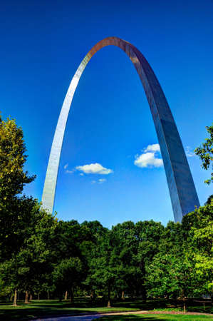 St  Louis Arch and surrounding National Park