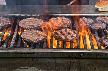 grill: on the grill