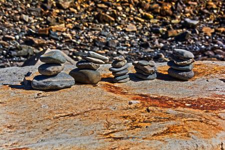 rock piles Stok Fotoğraf