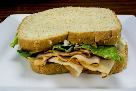sanwich: turkey sandwich Stock Photo