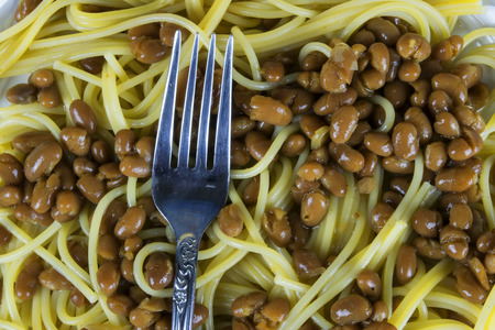 baked beans with spaghetti