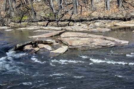 rocks and debris in the rivers path