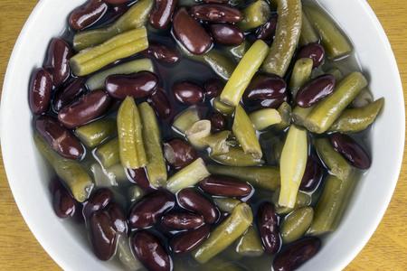 a bowl of three bean soup