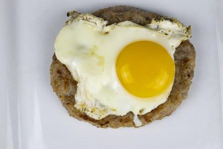 sausage patty with egg Banco de Imagens