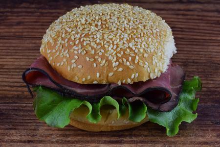 roast beef  on bun Zdjęcie Seryjne