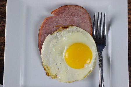 ham and egg on a plate Stock fotó