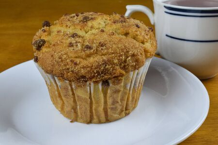 coffee cake muffin on a plate