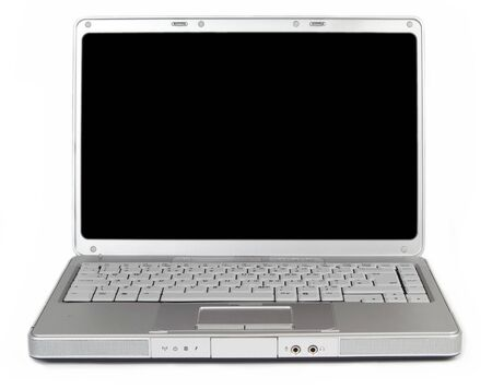 modern widescreen laptop with a blank screen for your message or image Stock Photo - 253101