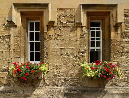Summer Oxford college windows photo