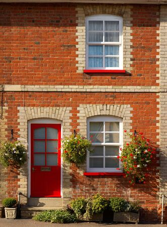 Pretty terraced cottage in suffolk, England photo