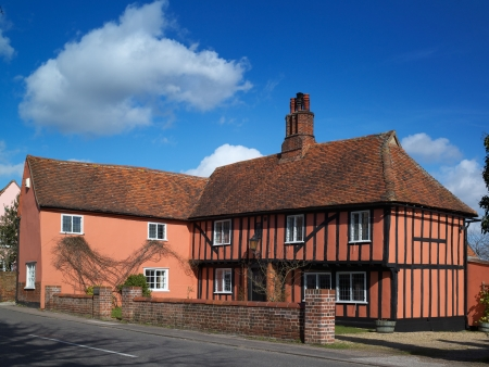 A fine English village Country House Stock Photo