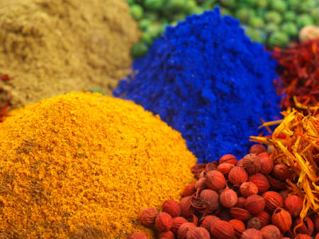 eatern: Mixed middle eatern dyes and spices Stock Photo