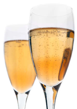 royale: Kir Royale, Champagne with Cassis Stock Photo