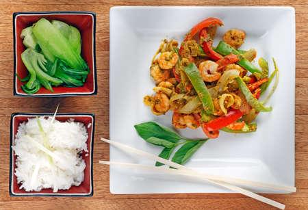 thai basil: Stir Fried Thai style prawns in chili