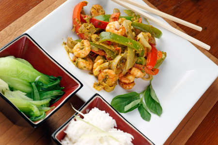 thai pepper: Stir Fried Thai style prawns