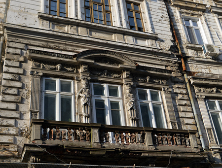 dilapidation: Bucharest Romania: faded beauty