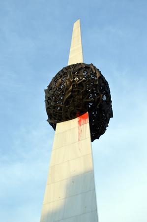 Bucharest Romania: rebirth memorial in Revolution Square Piata revolutiei photo
