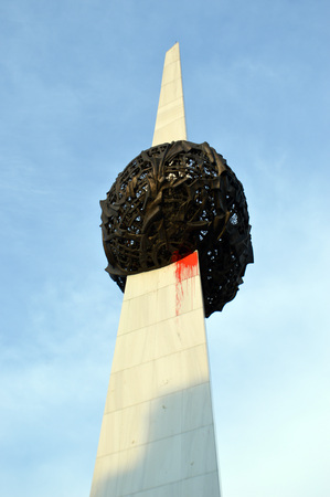 Bucharest Romania: rebirth memorial in Revolution Square Piata revolutiei photo