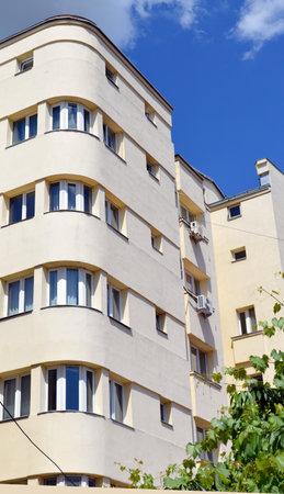 apartment block: Bucharest Romania: Art deco apartment block Editorial