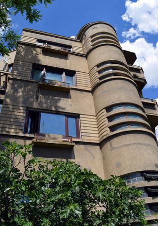 apartment block: Bucharest Romania: Art deco apartment block on Lascar Catargiu