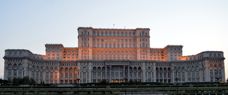 Bucharest Romania: Palace of the Parliament Editorial