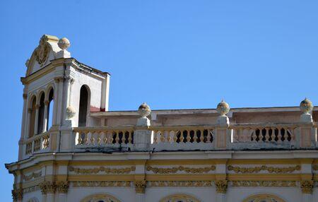 balustrades: Havana Cuba: Detail of Spanish colonial style building in Paseo de Marti Prado