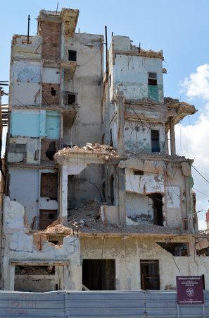 dilapidation: Havana Cuba: Demolition in progress on the Malecon Editorial