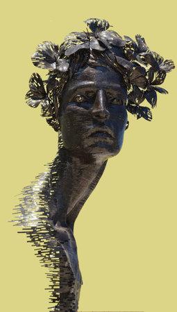 primavera: Havana Cuba: Public art for Biennale 2015  Primavera sculture against yellow wall