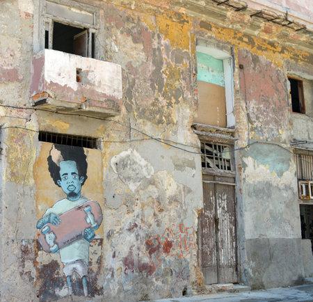 havana cuba: Havana Cuba: Street art  graffiti Editorial