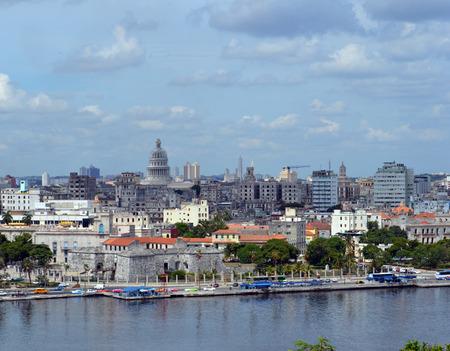 cuba: Havana Cuba: Skyline from Statue of the Christ Stock Photo