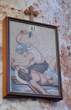 nailed: Eleventh station of the cross: Jesus is nailed to the cross, Havana Cathedral, Cuba