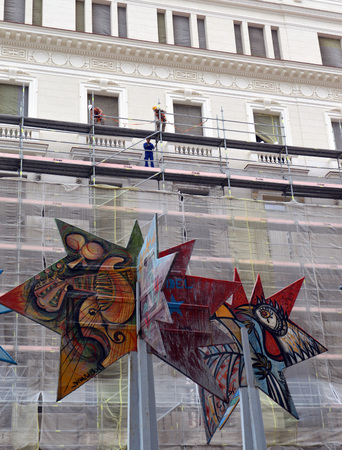 fine arts: Renovation work at National Museum of Fine Arts, Havana Cuba Editorial