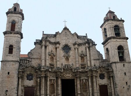 roman catholic: Havana, Cuba: Roman Catholic Cathedral Stock Photo