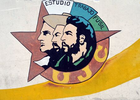 trabajo: Mural for the Cuban Young Communist League in Havana, Cuba