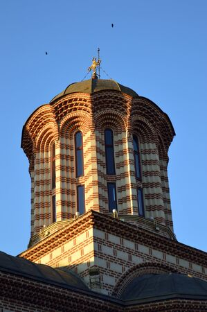 princely: Cupola of St Anthonys church in Old Princely Court built in the reign of Vlad Tepes Vlad the ImpalerDracula in Bucharest, Romania Stock Photo