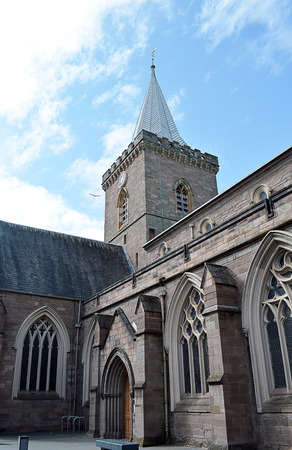 reformation: St Johns Kirk, the oldest standing building in Perth, first completed in 1241. The leaded spire was in place by the early sixteenth century.