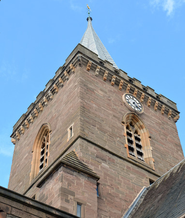 preached: The spire of St Johns Kirk, the oldest standing building in Perth, first completed in 1241. The leaded spire was in place by the early sixteenth century. John Knox preached here in 1559 inciting the congregation to stone the priest after which they ransa