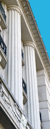 ionic: Art deco Ionic columns, Bucharest, Romania