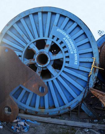 altmetall: Yard mit Schrott, weitgehend aus der Öl- und Gasindustrie, die von Aberdeen Harbour, Schottland. Editorial
