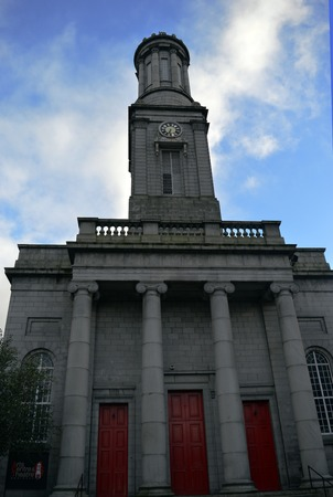 king street: Aberdeen Arts Centre, King Street, Aberdeen, a 350 seat theatre venue originally built as North Parish Church in Greek revival style by John Smith, 1829-1830, with clock tower based on Lysicrates monument. Editorial