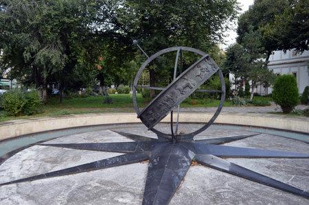 0 geography: Kilometer Zero in Bucharest, Romania Editorial