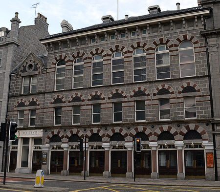 refurbished: The Tivoli Theatre, opened in 1872, stands refurbished in Guild Street, Aberdeen, Scotland