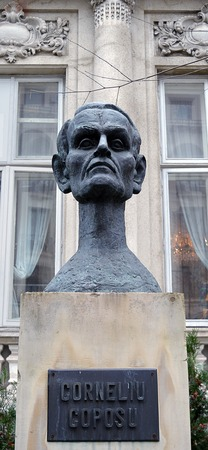 persecution: A bust of Romanian politician, Corneliu Coposu, imprisoned by the communists for 17 years, Bucharest, Romania
