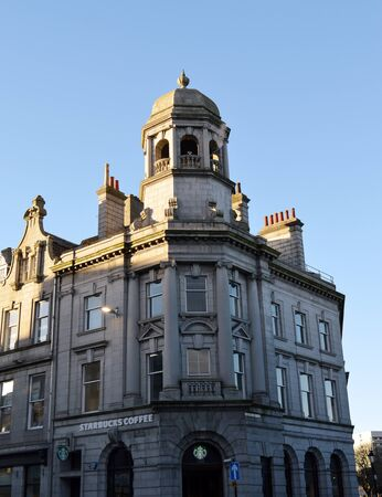 scrollwork: Late-Victorian architecture on Union Street, Aberdeen, Scotland Editorial