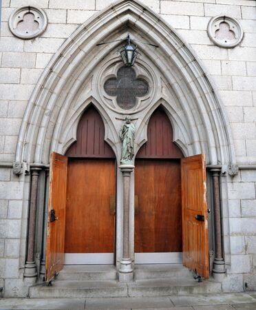 trefoil: Entrance to St Marys Cathedral, Aberdeen, Scotland