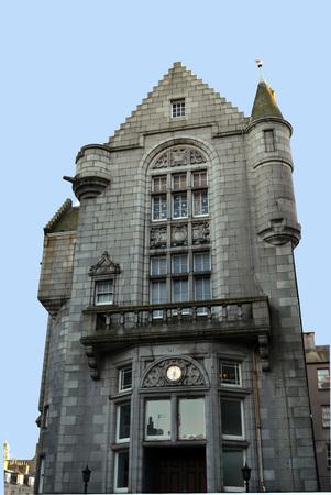 oficina antigua: Former Head Post Office in Crown Street, Aberdeen, Scotland Foto de archivo