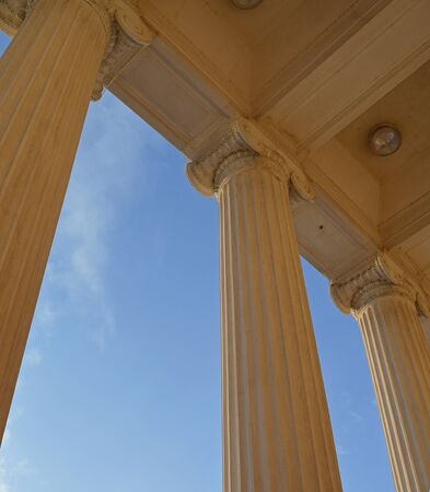 ionic: Ionic columns against a blue sky