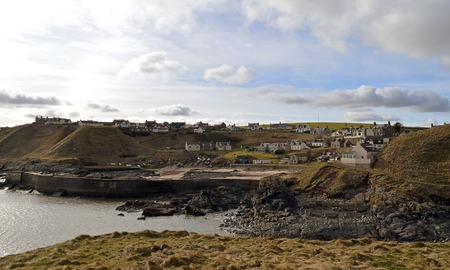 smuggling: The former fishing (and smuggling) village of Collieston perches on the rocks above the North Sea in Aberdeenshire in the north east of Scotland.