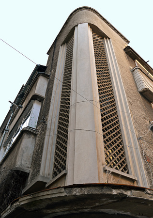 vertex: Typical residential art deco architecture, Bucharest, Romania Stock Photo
