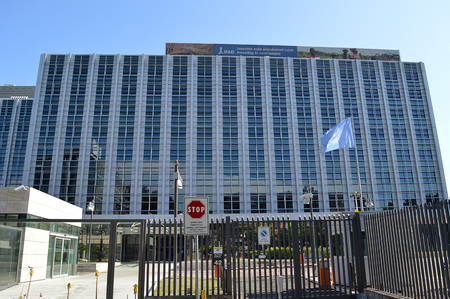 rural development: ROME - 5 JUNE 2016: The headquarters of the UN agency IFAD, International Fund for Agricultural Development, which provides low-interest loans and direct assistance to combat hunger and rural poverty.